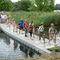 nautical gangway / for docks / for recreation centers / floating