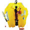 self-inflating life jacket / 290 N / with safety harness