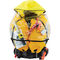 self-inflating life jacket / 160 N / with safety harness