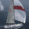 cruising sailing yacht / open transom / deck saloon / carbon