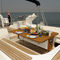 cruising sailing yacht / open transom / deck saloon / with bowsprit