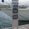 electrical distribution pedestal / with built-in light / for docks