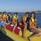 7-person max. towed banana buoy