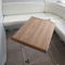 boat table / adjustable / wooden