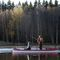 fishing canoe / 6-person / wooden