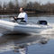 outboard inflatable boat / rigid / side console / 4-person max.