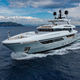 cruising mega-yacht / raised pilothouse / steel / with swimming pool