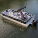 outboard pontoon boat / tri-tube / sport-fishing / 12-person max.