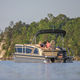 outboard pontoon boat / tri-tube / 15-person max.