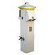 electrical distribution pedestal / with built-in light / for docks / stainless steel