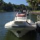 outboard inflatable boat / stepped hull / rigid / center console
