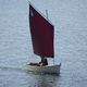 classic open sailing/rowing boat / with open transom / gaff rig / transportable