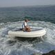 hydro-jet inflatable boat / rigid / 6-person max. / teak deck