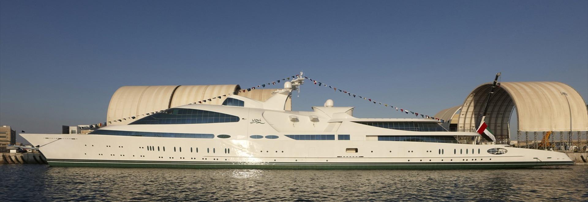141m mega yacht YAS undergoing sea trials