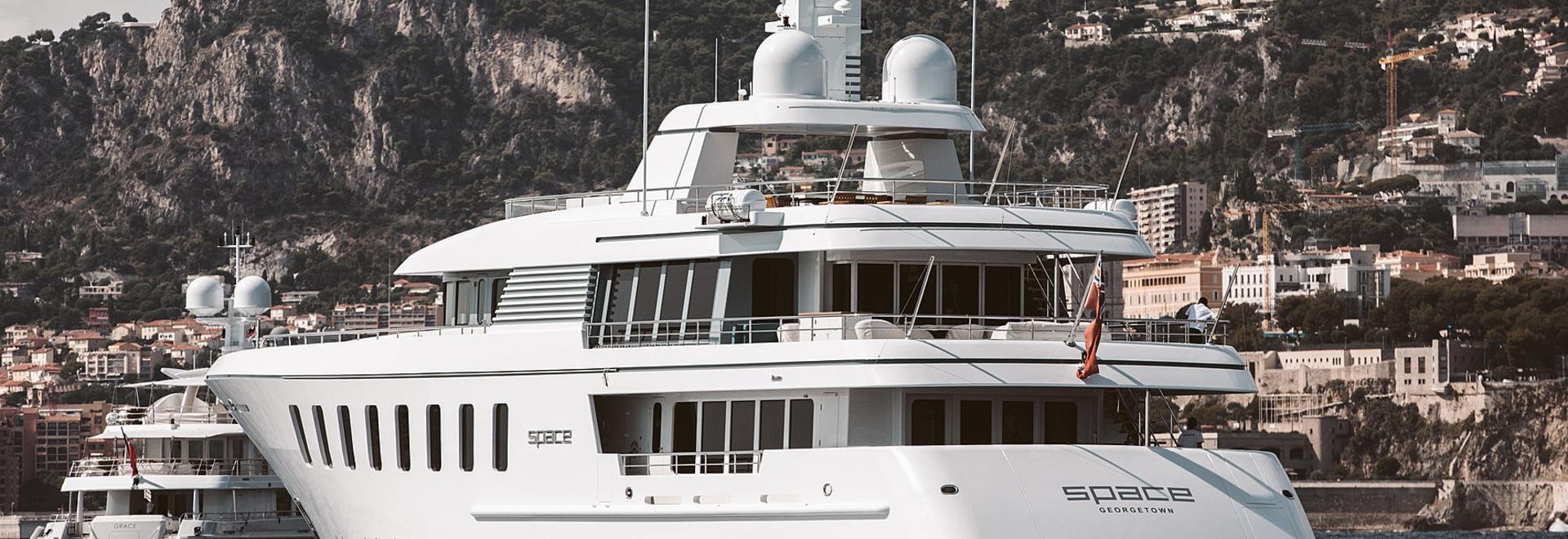The 45m motor yacht Space underway