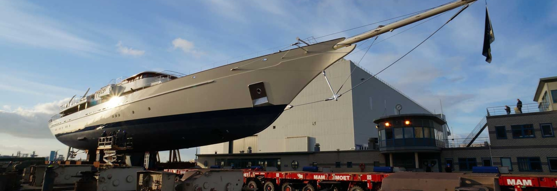 90m schooner Athena emerges gleaming from Royal Huisman after refit