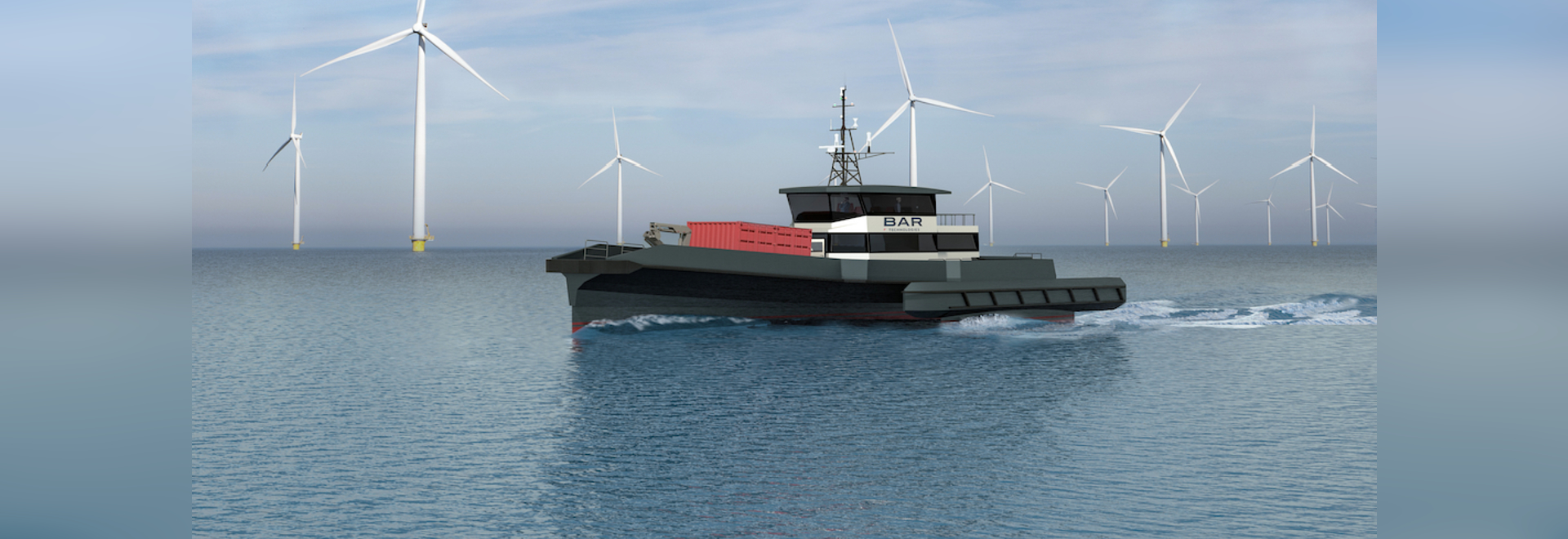 The BAR Technologies 30-meter CTV design is aimed at demands of the U.S. East Coast offshore wind energy industry.
