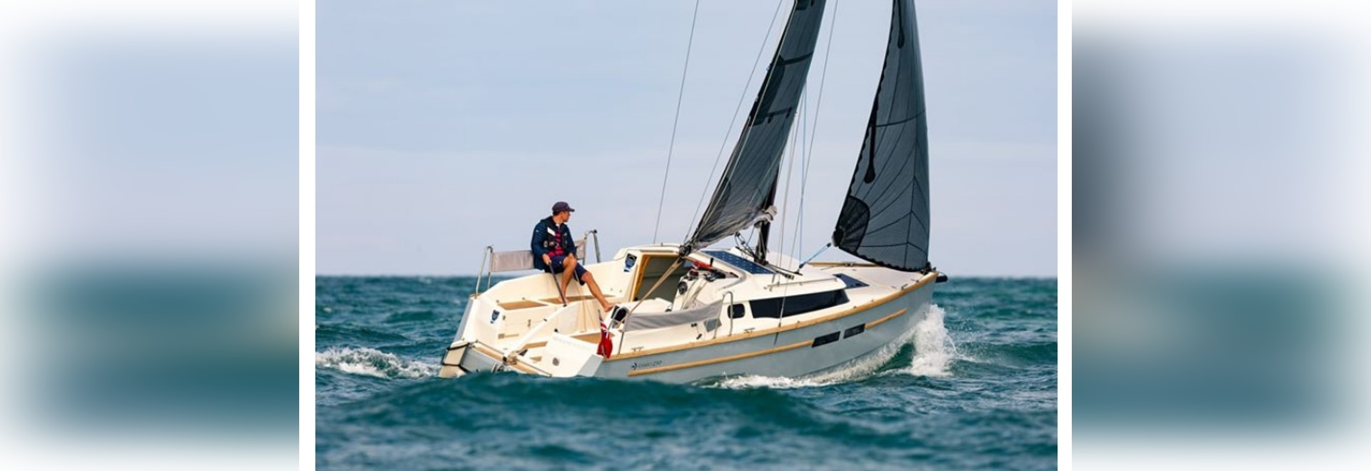 A carbon rig and laminate sails contribute to the sprightly performance.