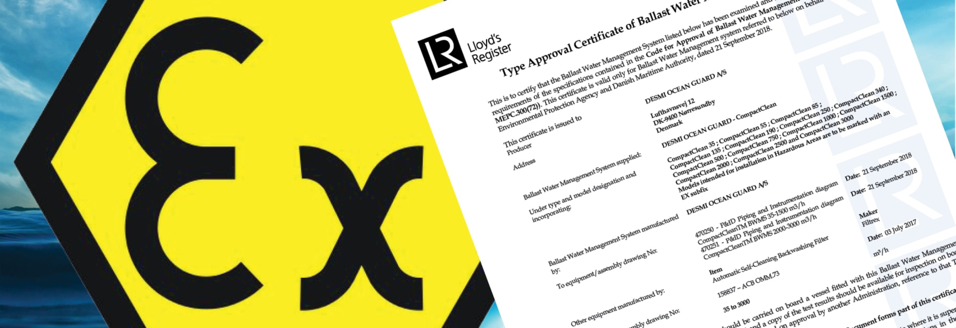 CompactClean IMO Certificate with EX