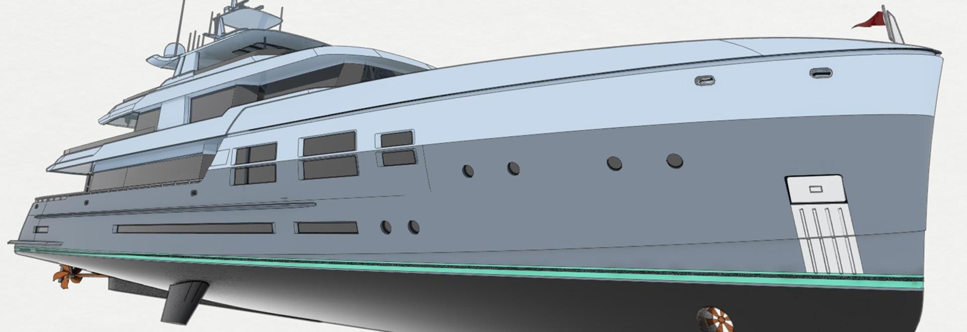 "DLBA Presents 45 Metre ""Radical"" Explorer Yacht Concept"