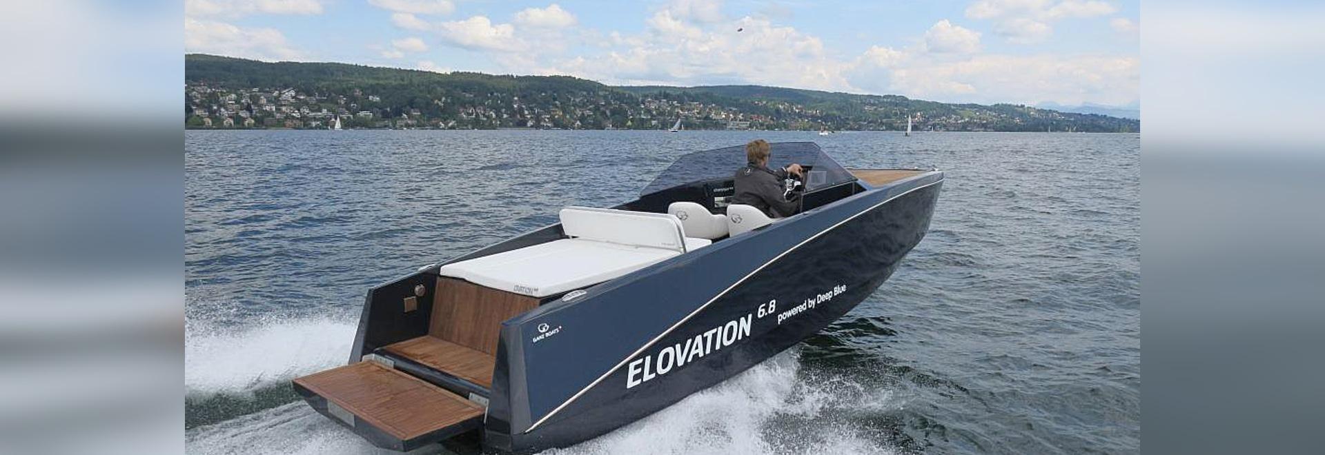 Elovation 6.8 New with torqeedo deep blue 80