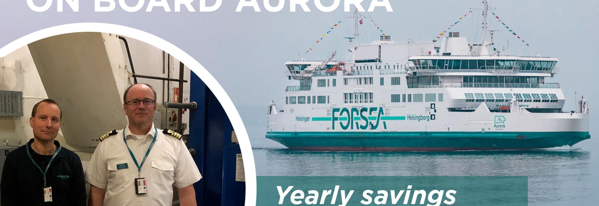 Energy Savings on Board Aurora