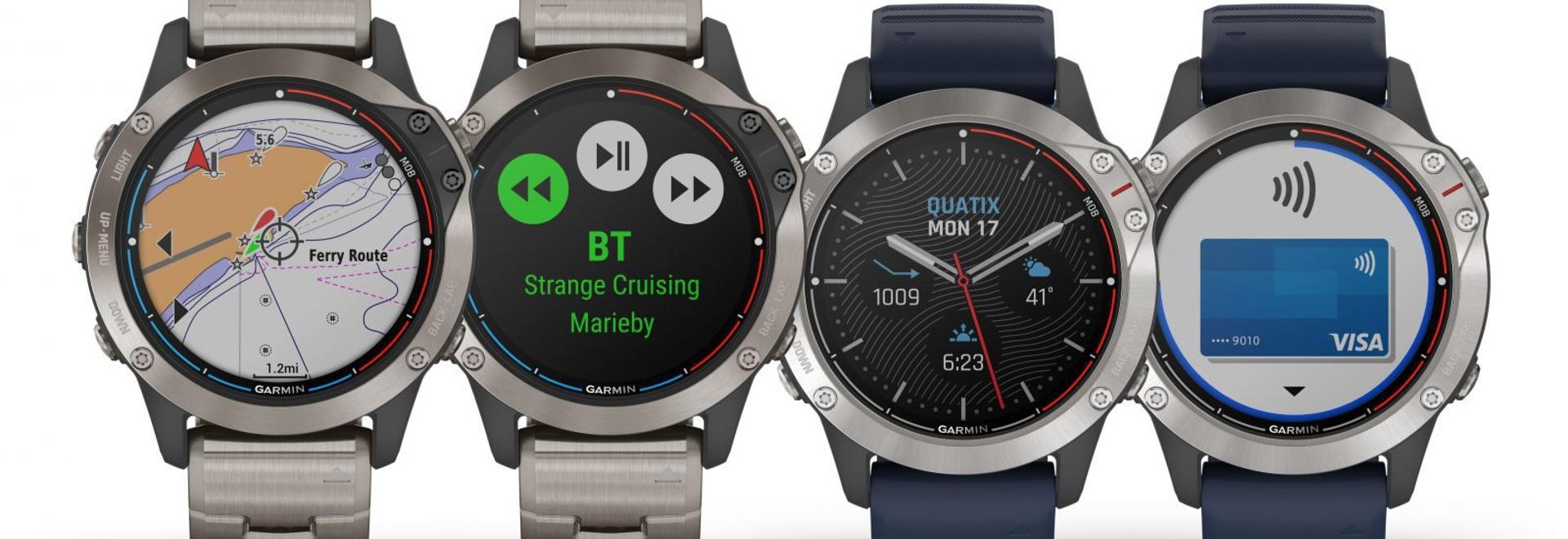 Garmin adds solar charging to its marine series smartwatch