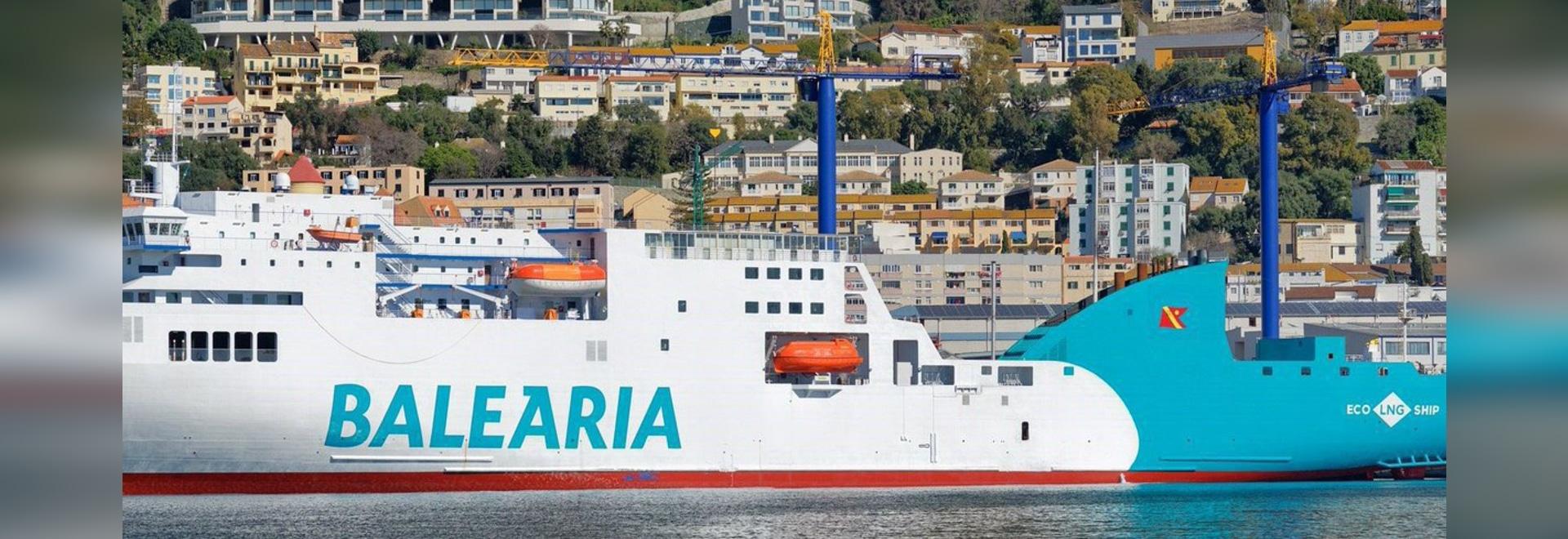 Gibdock: 1st Baleària Ferry Converted to LNG