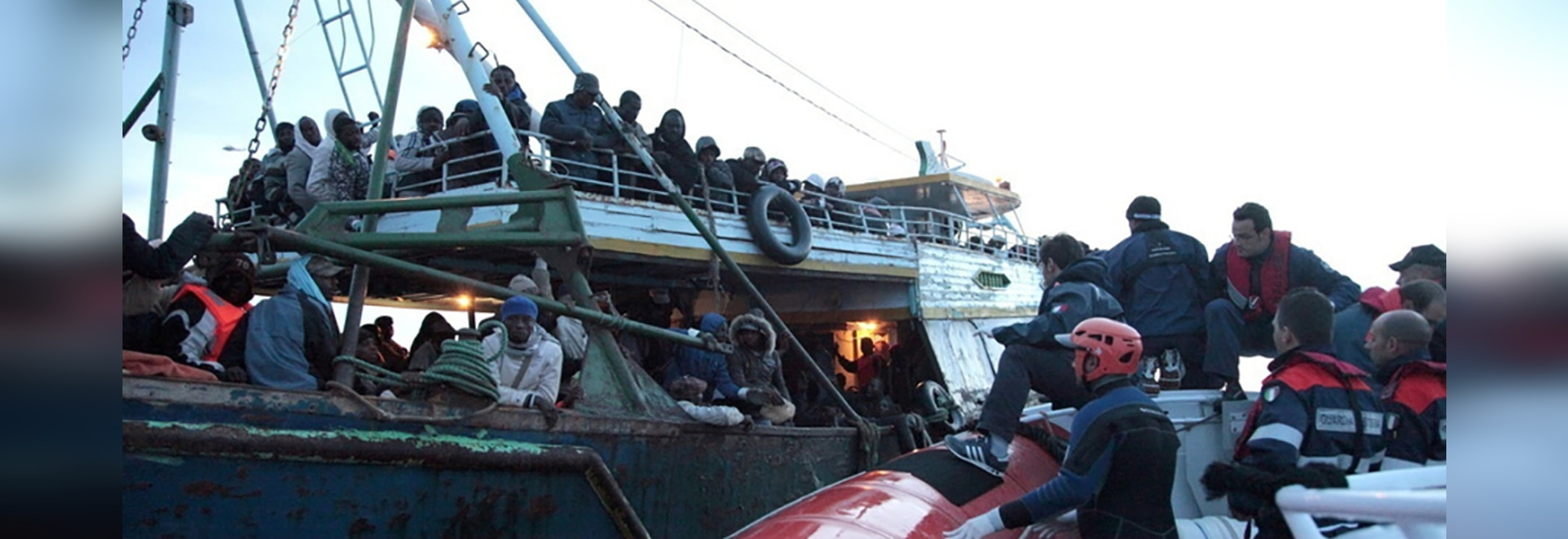 Italian Coast Guard rescues migrants and refugees bound for Italy