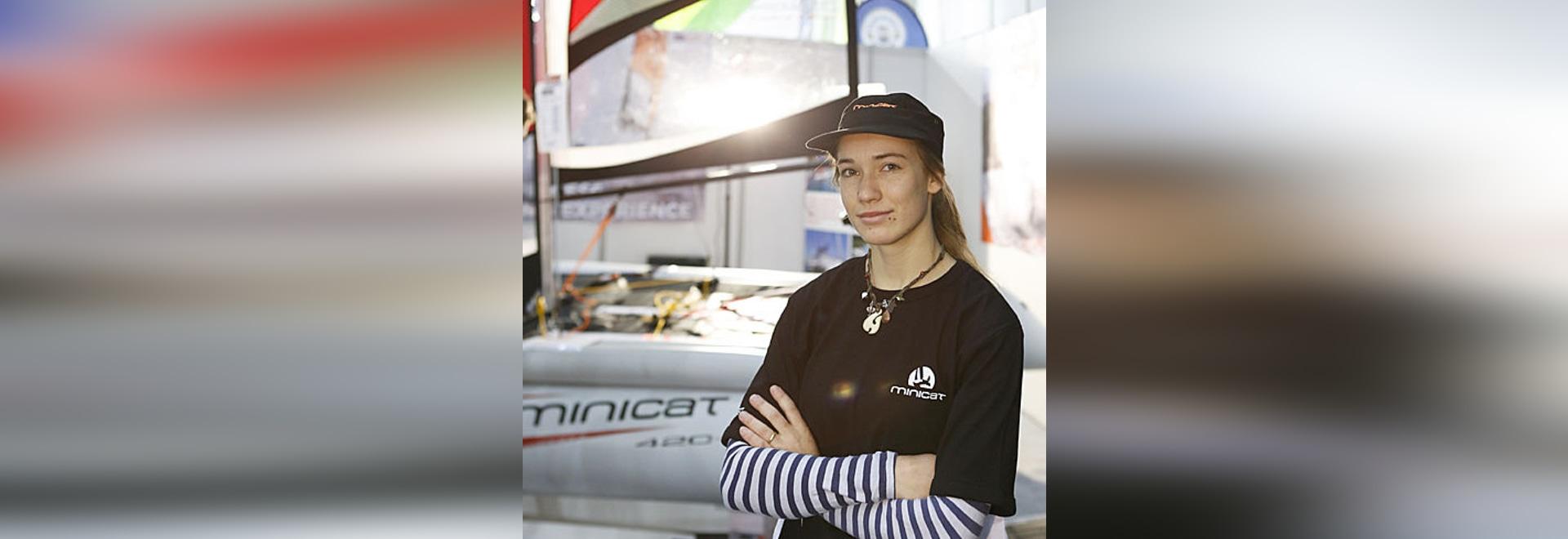 Laura Dekker at the Dusseldorf Boat Show