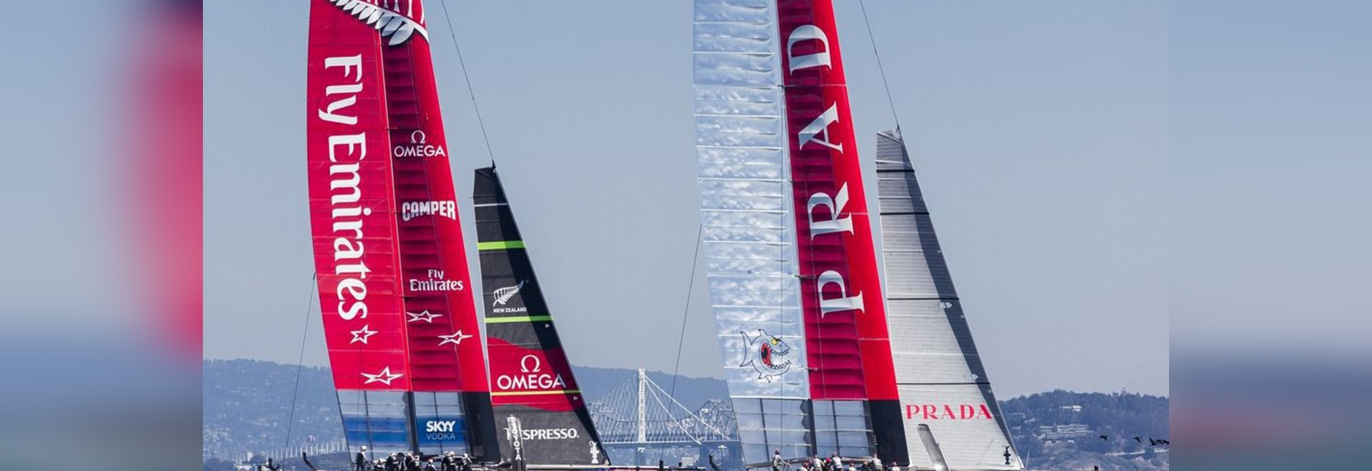 Luna Rossa and Emirates Team New Zealand battle for the role of Challenger in the 2013 America's Cup in San Francisco.