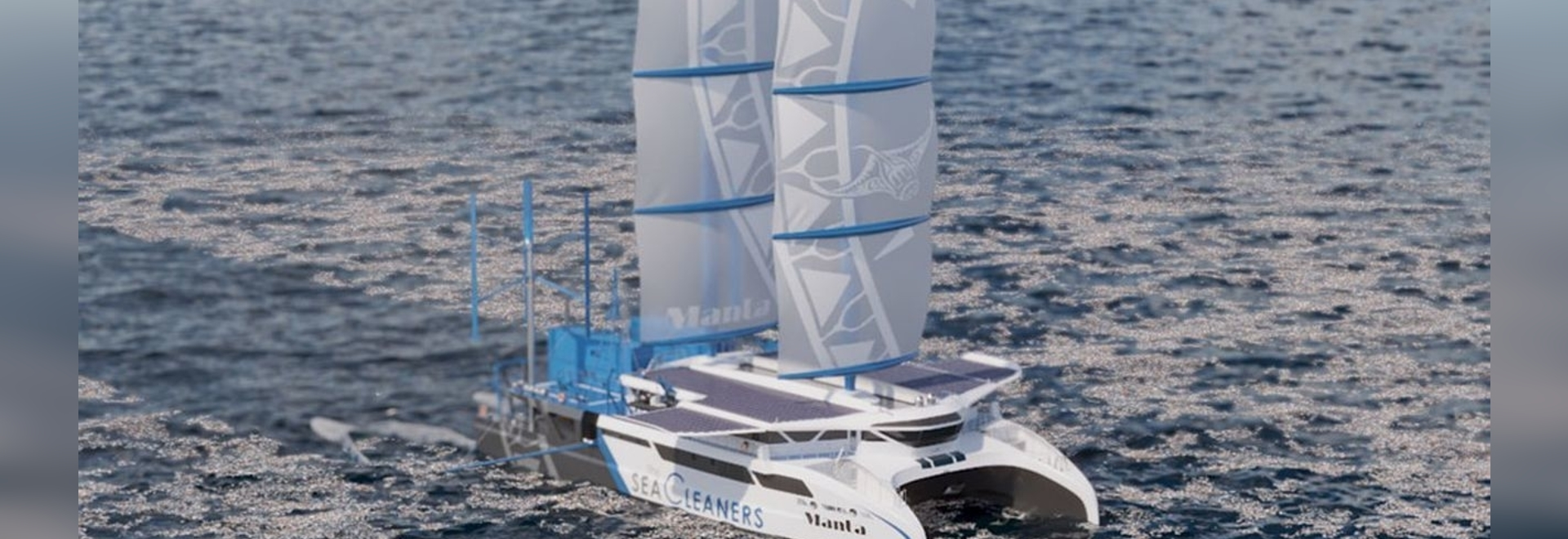 'Manta': a giant sailboat on the attack of oceanic plastic pollution