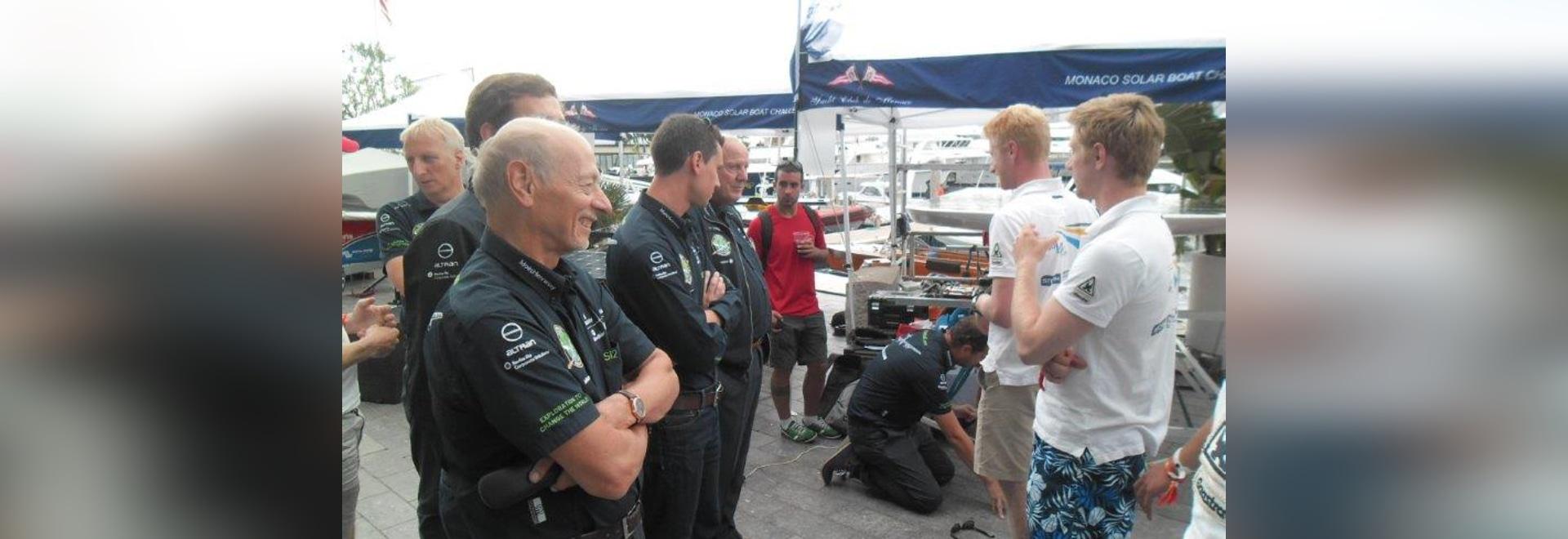Members of the Solar Impulse Team and the Tu Delft Solar Boat Team
