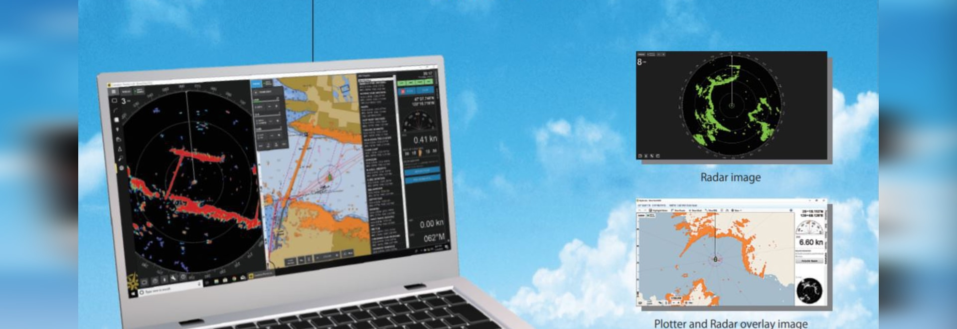 MIBS2020: Koden MDS-11R RADARpc, radar for Coastal Explorer
