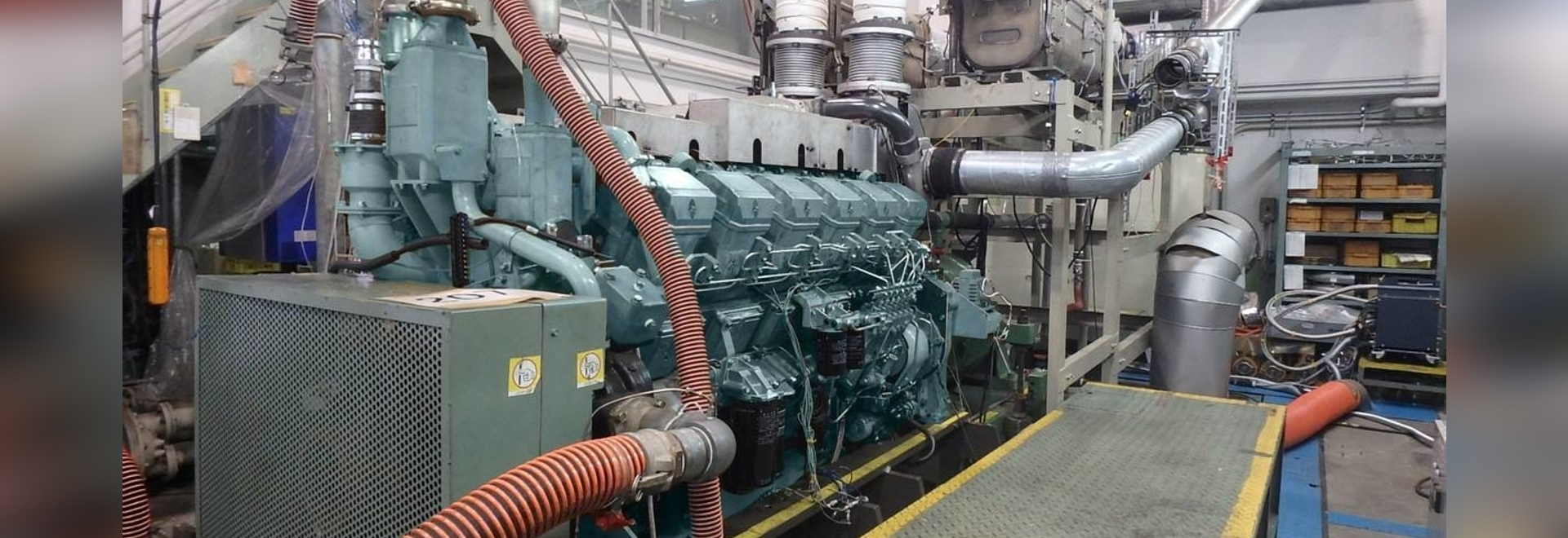 Mitsubishi S12 R engine installed