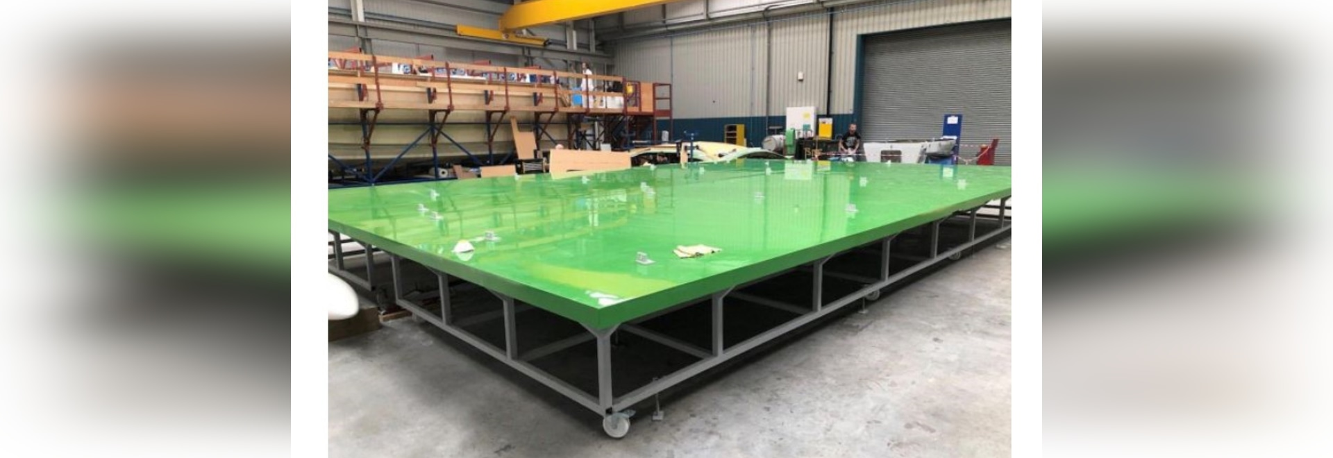 The new 10m x 7m infusion table will enable Oyster Yachts to build its largest bulkheads in-house