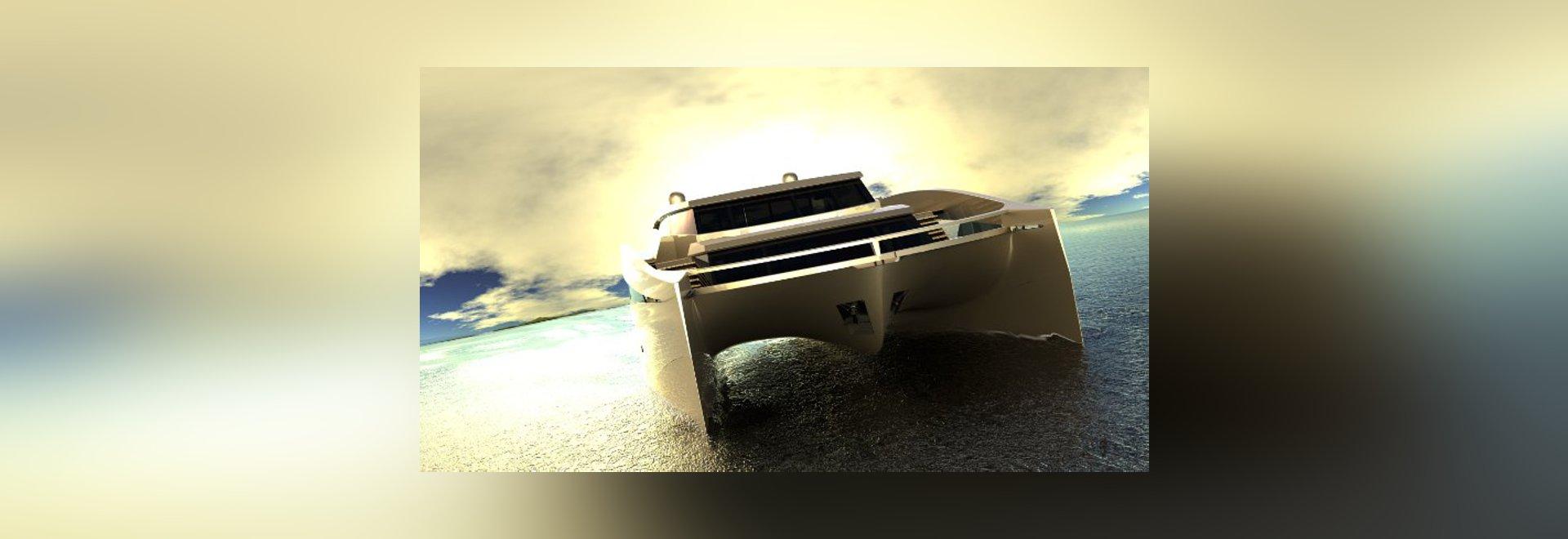 New 115ft catamaran superyacht 115 Sunreef Power concept