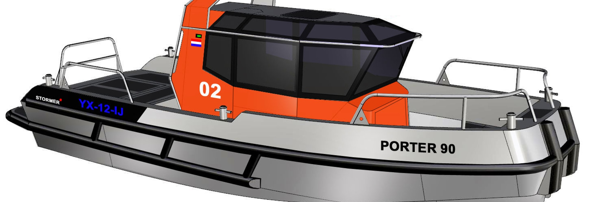 NEW: in-board service boat by Stormer Marine B.V.