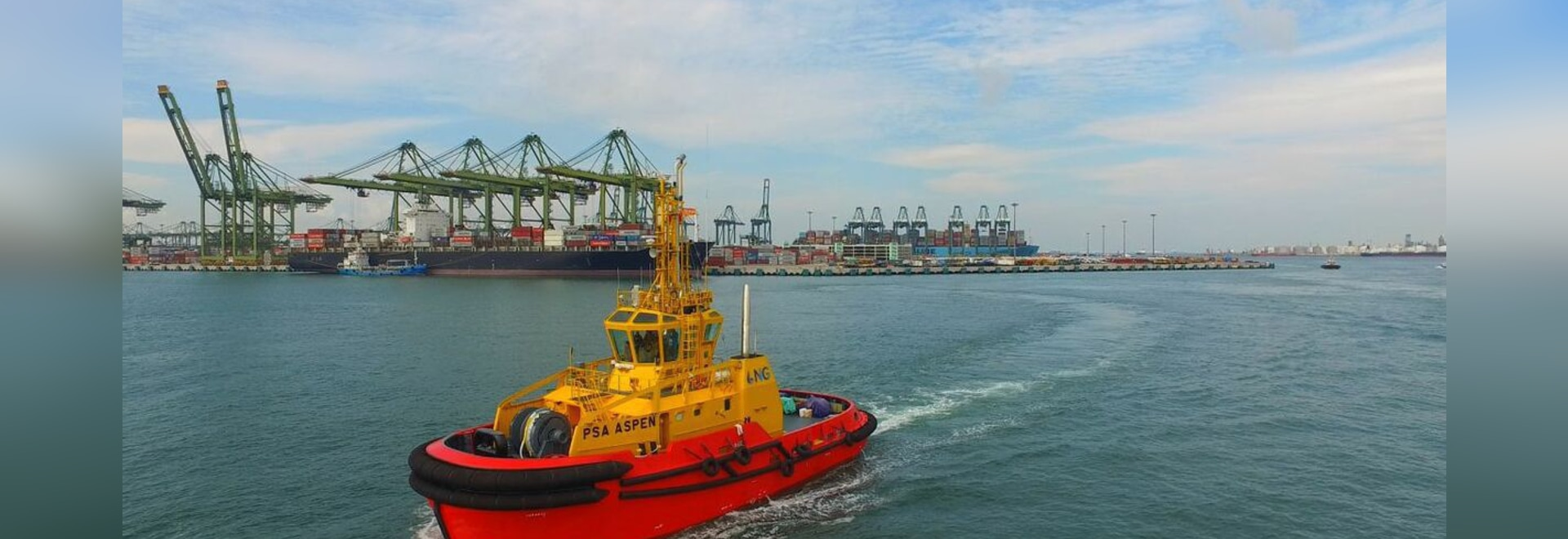 PSA Aspen is the first LNG-fuelled tug in PSA Marine's fleet