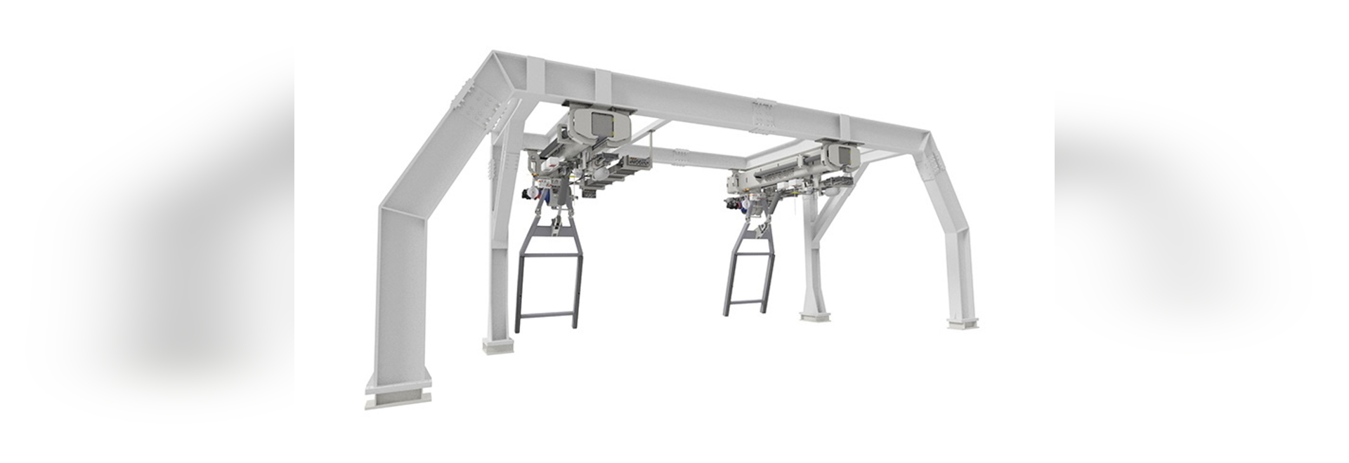 Rendering of the 2TDB-7000 - Vestdavit's most sophisticated dual-point davit system to date