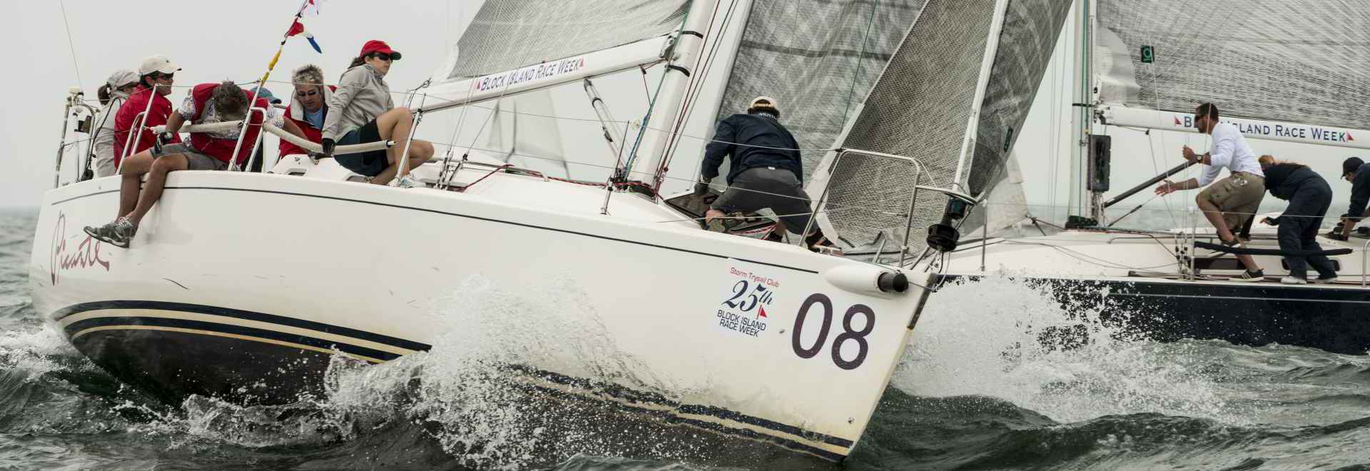 Robert Salk's J/109, Picante, eighth in its class in 2013, rounds the weather mark
