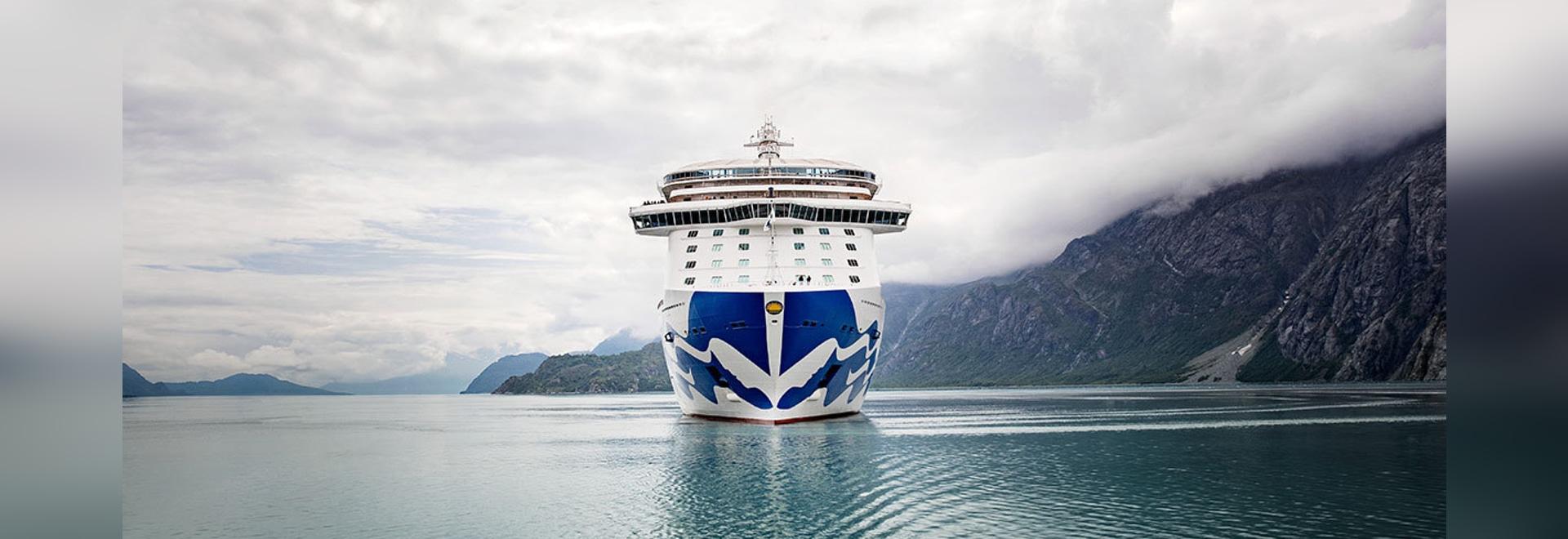 The Royal Princess in Glacier Bay, Alaska.