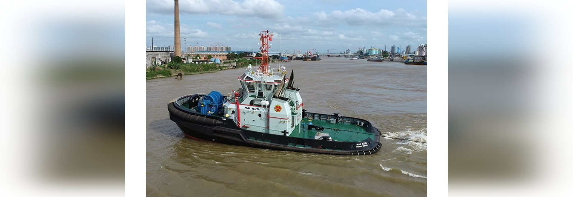 On sea trials, tug delivered a bollard pull of 88 metric tonnes