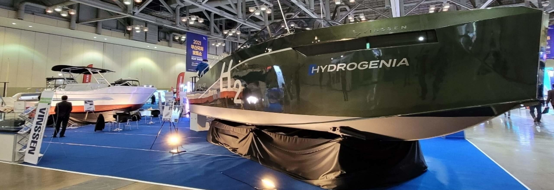 South Korea's first commercialised hydrogen boat revealed