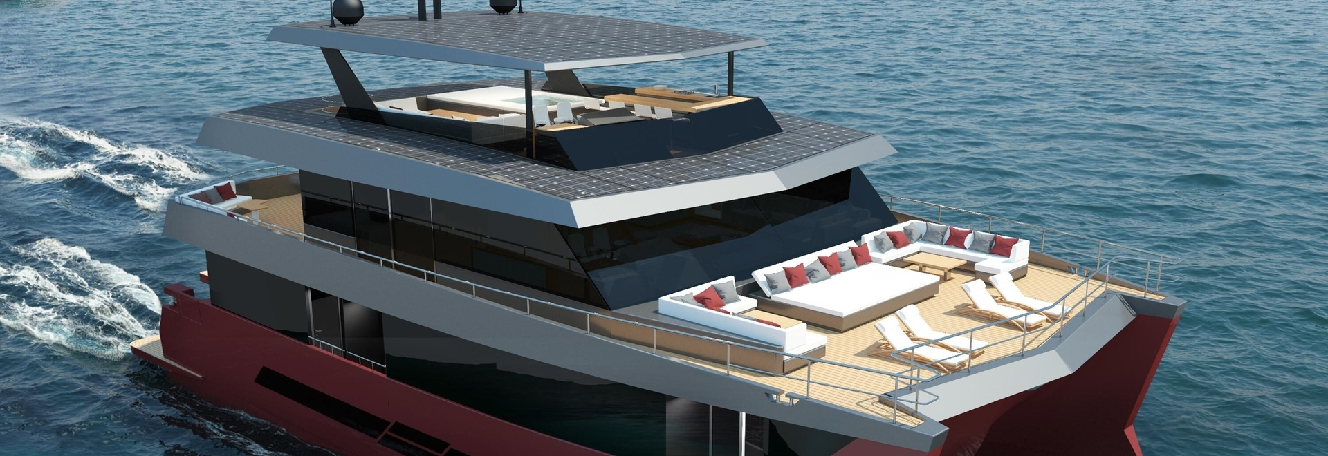 Spaceline 100 Hybrid, a new concept in luxury motor catamarans