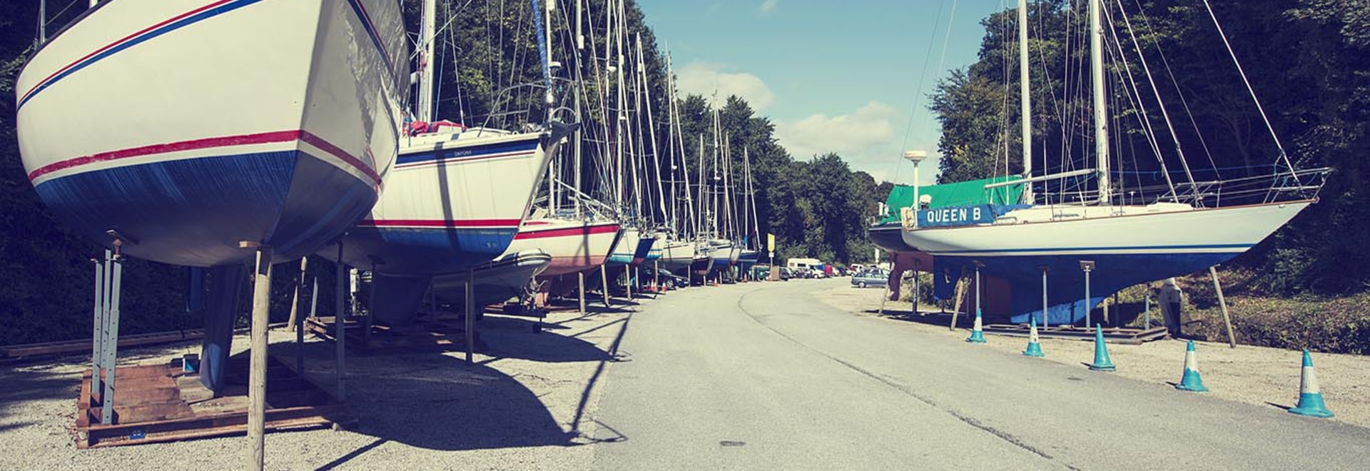 Storing boats ashore over winter helps to protect them