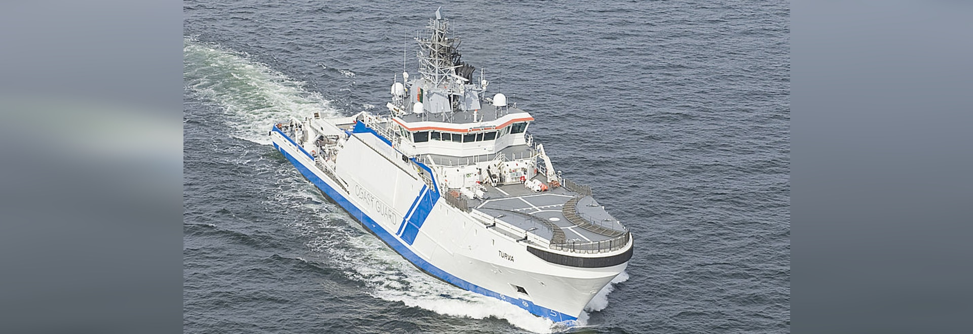 STX Finland handed over offshore patrol vessel to the Finnish Border Guard