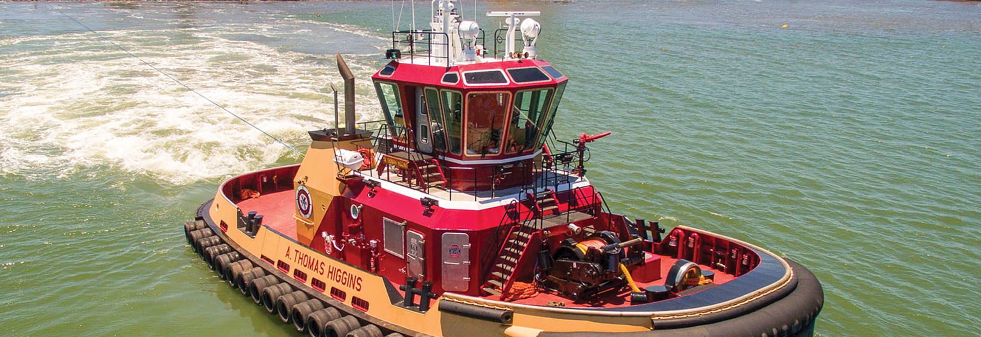 This new Robert Allan-designed RApport 2400 tug has been customized by the designer, builder, and owner to provide specific operational features.