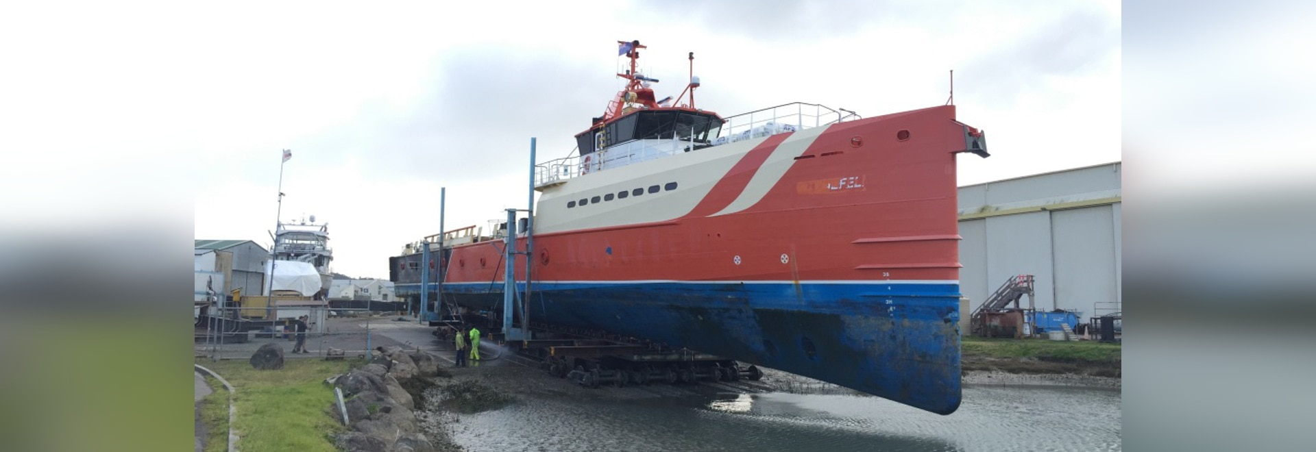 Update on Damen fast support yacht conversion project