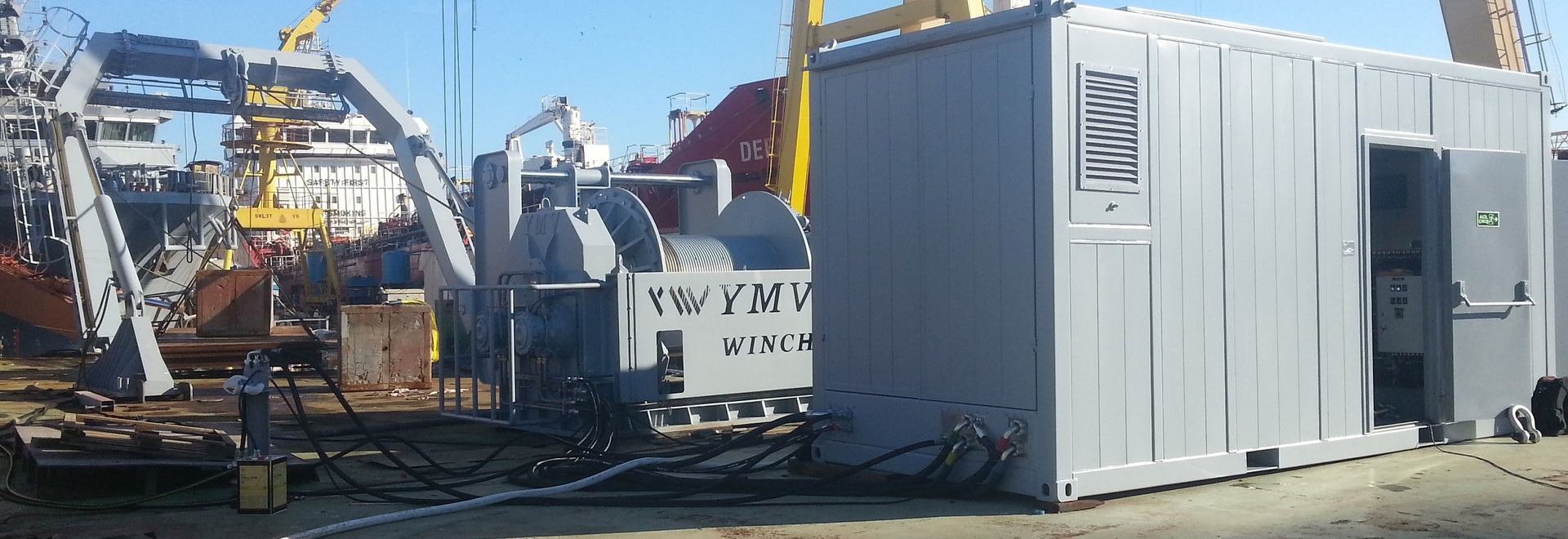 YMV SWL10T @3500 MT ACTIVE HEAVE COMPENSATION WINCH SYSTEM